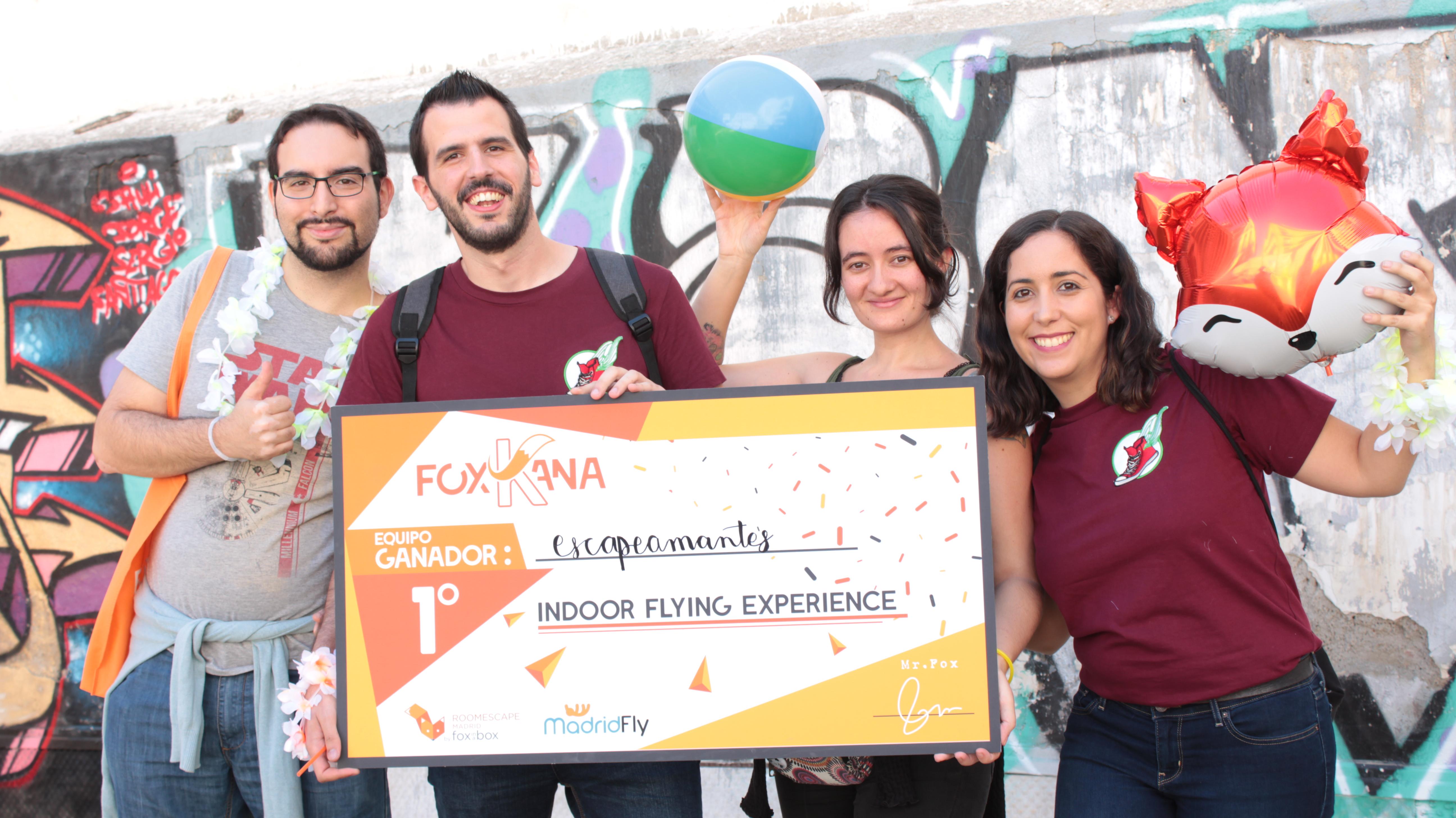 gymkhana Madrid recogiendo premio urban escape