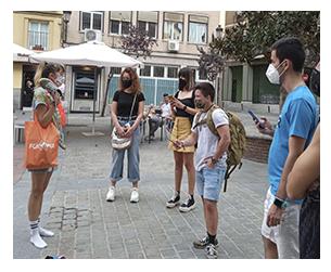jugadores empezando una street escape en Madrid